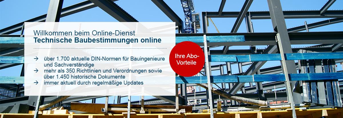 Technische Baubestimmungen online